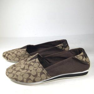 Coach Flip-On Flat Shoes Brown Size 7